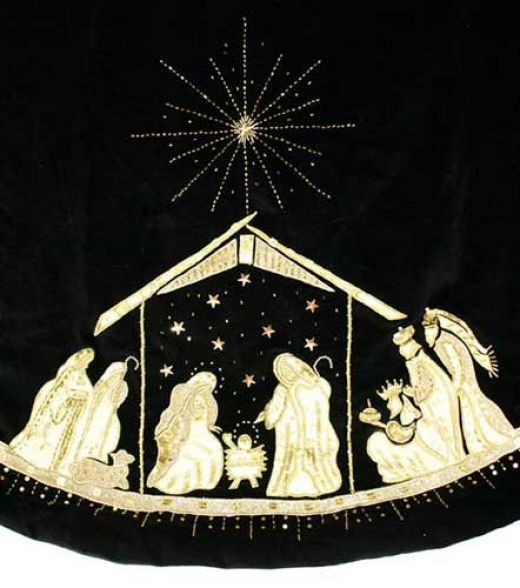 Nativity Christmas Tree Skirts Tree skirts, Christmas tree and