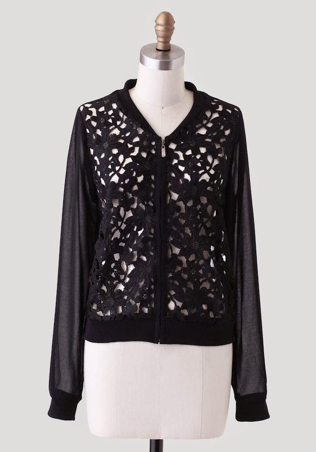 at Ruche // Broadway chiffon jacket