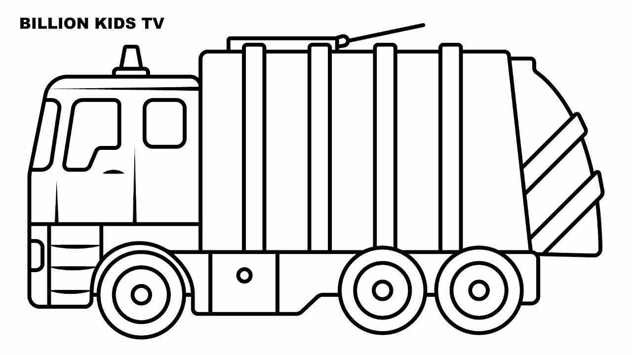 Garbage Truck Coloring Page Elegant Garbage Truck Coloring For Kids In 2020 Truck Coloring Pages Family Coloring Pages Coloring Pages