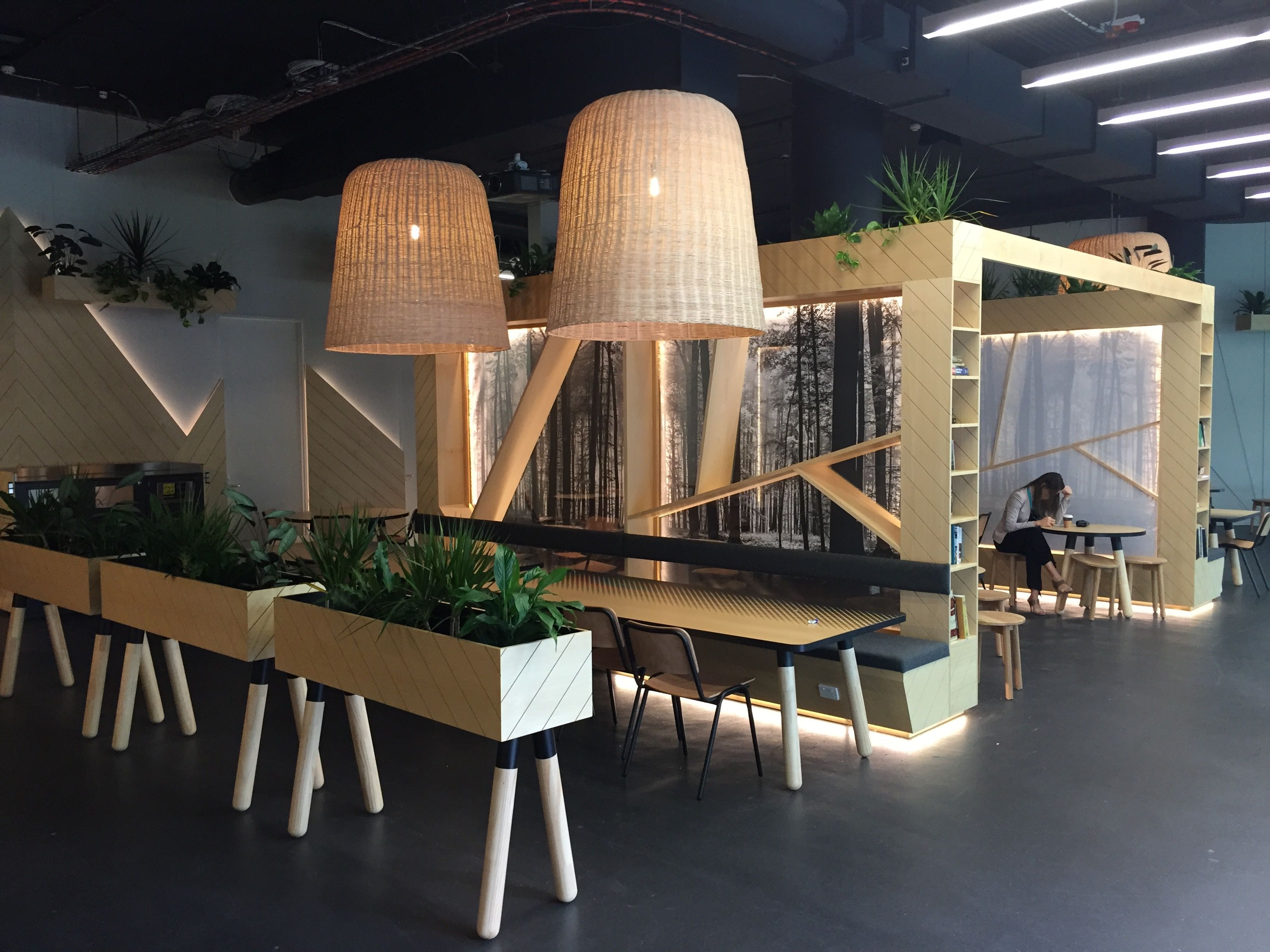 Lunch area at optus workspace inspiration pinterest workspace