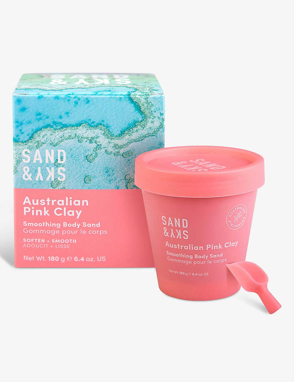 SAND & SKY Australian Pink Clay Smoothing Body Sand scrub
