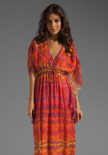 ed93e97f873 if only i were made of money -- CATHERINE MALANDRINO Kaftan Dress in Surfer  Print - Dresses
