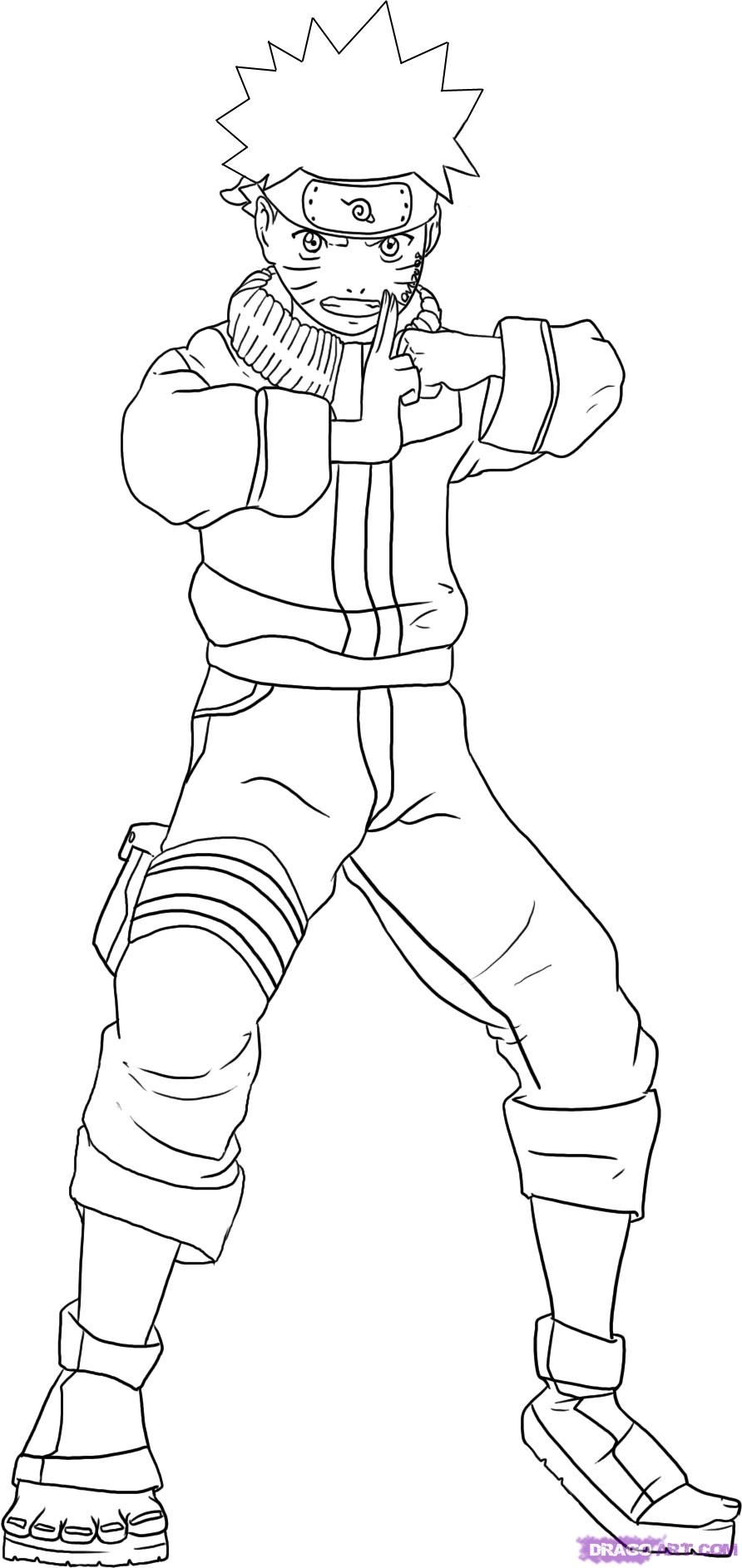 how to draw kakashi hatake from naruto step 6