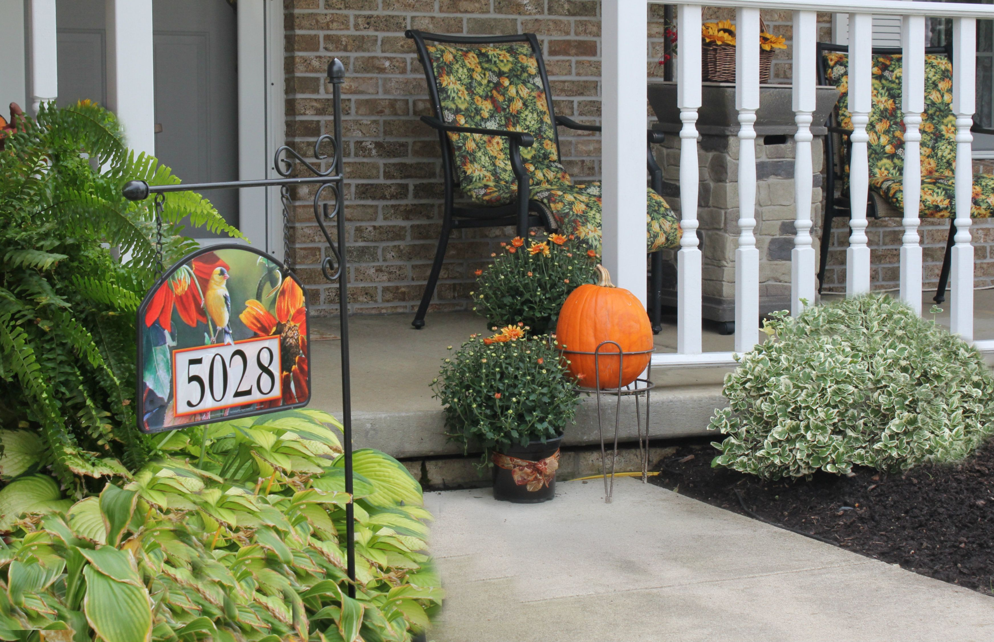 Wild Birds Unlimited is where I purchased magnetic address sign.  . Yard Designs are vinyl coated for long lasting beauty...I'm sure they can be purchased many places.  great for season changes