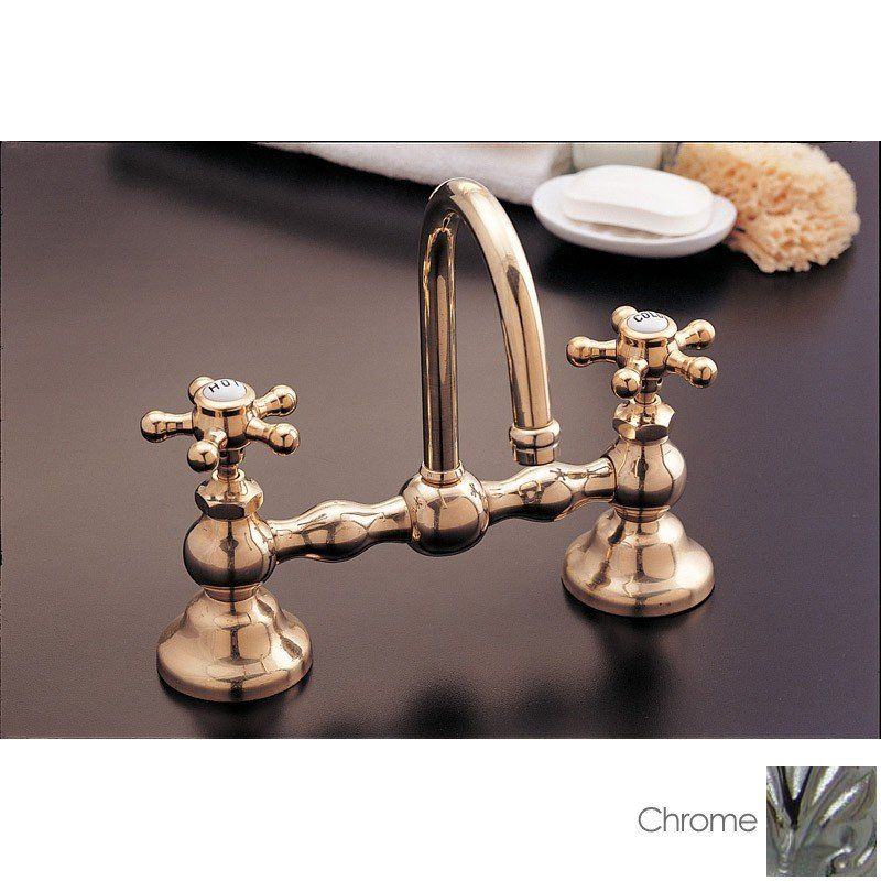 Columbia Bridge Style Bathroom Sink Faucet 8 Inch Centers In
