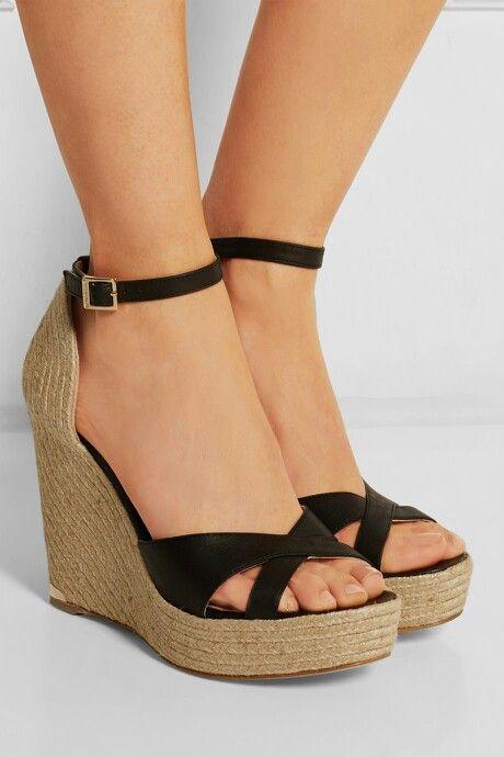 ef2cf824c18a Paloma Barceló - Leather espadrille wedge sandals