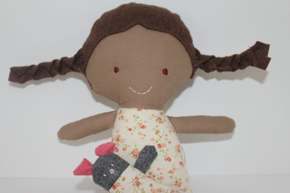 Latina Hand Sewn Doll - 11 inches tall by lifesewsweet on Etsy
