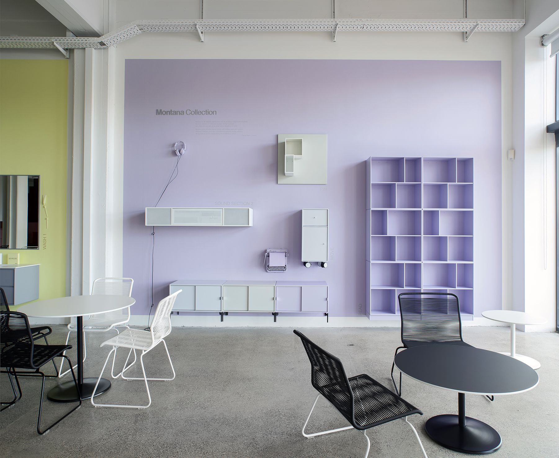 Copenhagen Showroom 2015 The Violetta Wall Showing Montana