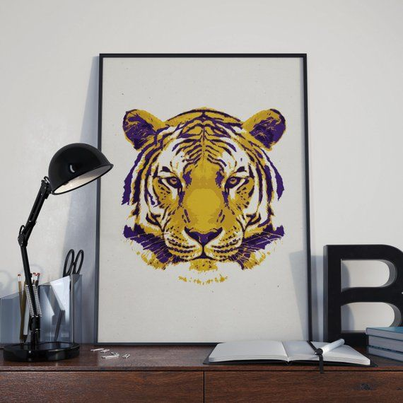 LSU Gift, Graduation Gift for Men, LSU Wall Art, LSU Prints, Tiger