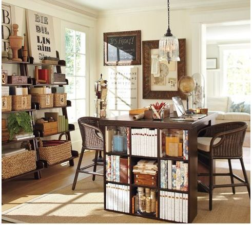 Home Office With Bedford Project Table Set From Pottery Barn. Awesome Ideas