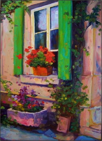 Bellissima Morning ,35x25, oil on gallery-wrapped canvas, painting by artist Maryanne Jacobsen