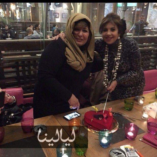 صور سهير رمزي تحتفل بعيد ميلادها مع زوجها والأصدقاء موقع ليالينا