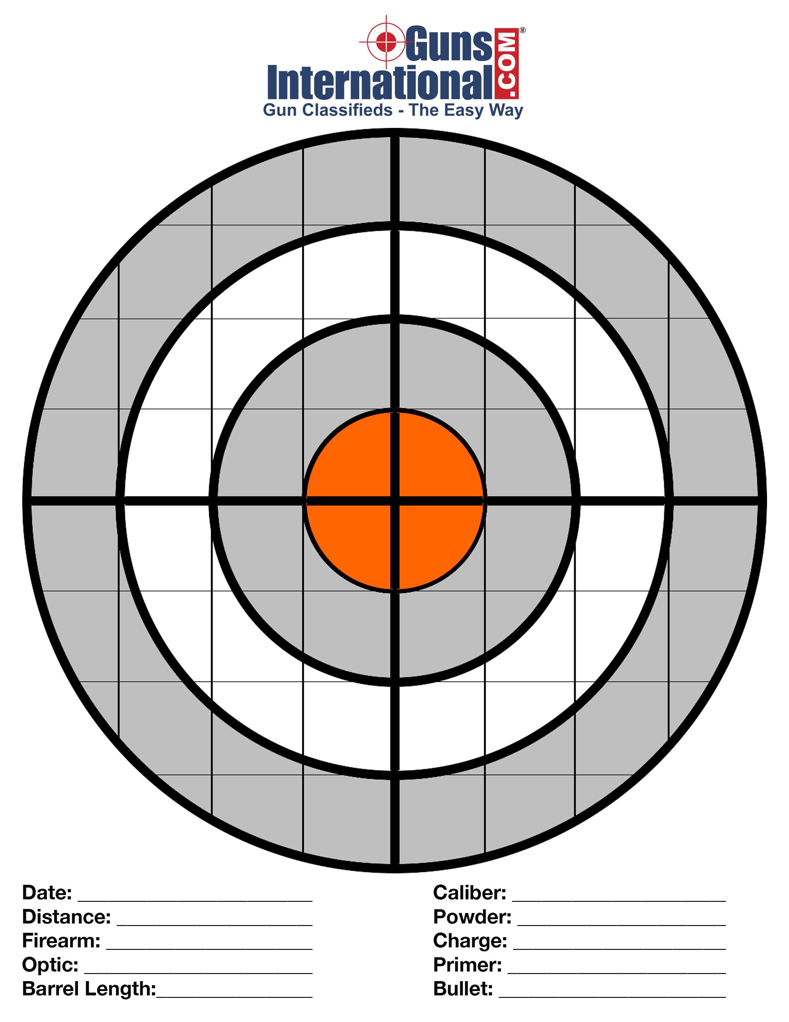 Pin On Gunsinternational Com Shooting Range Targets
