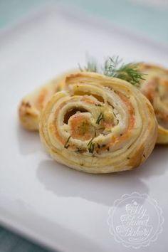 Lachs-Blätterteig-Schnecken #buffet