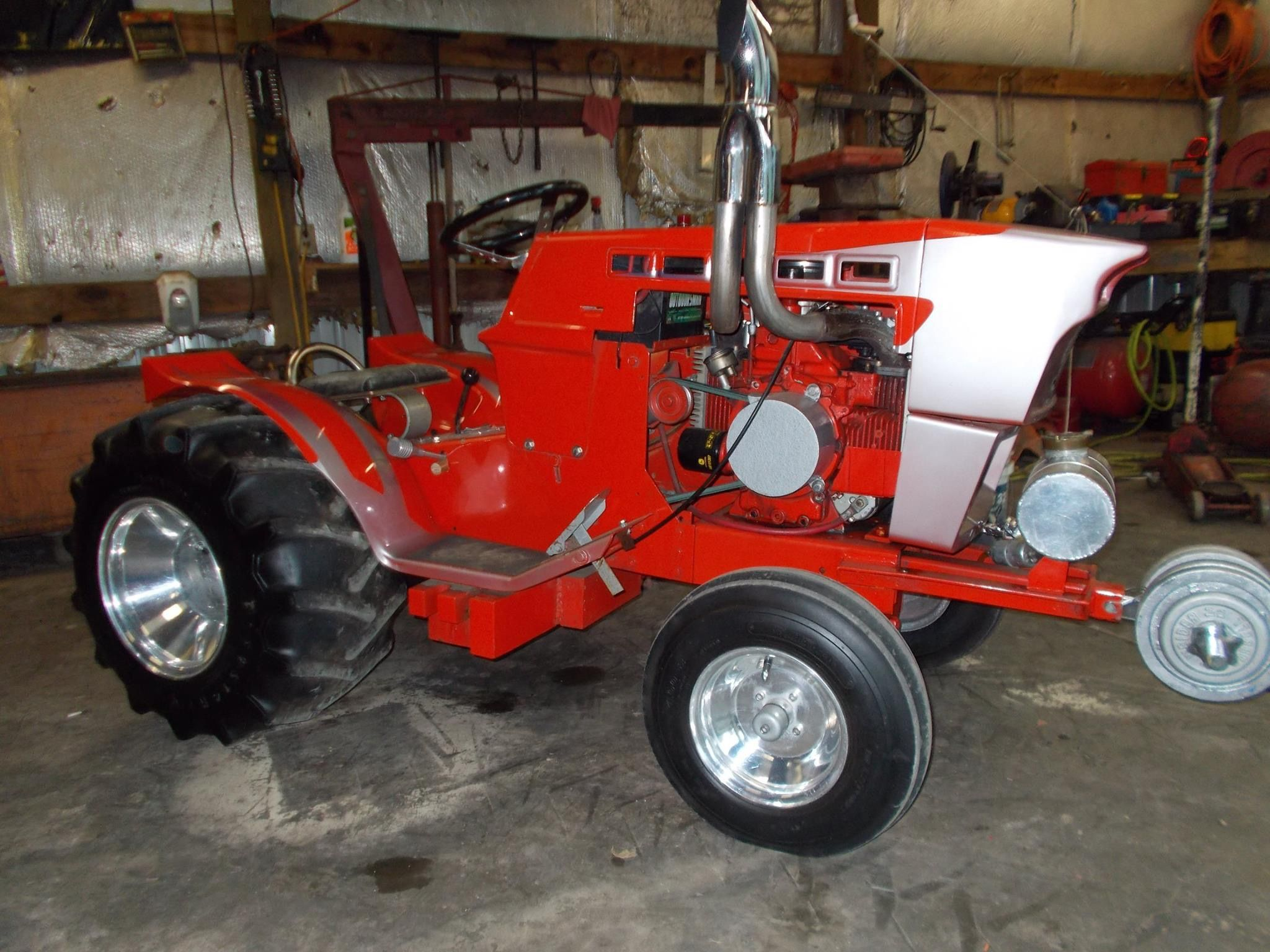 Custom Lawn Tractor Wheels : How about this awsome sears suburban garden tractor custom