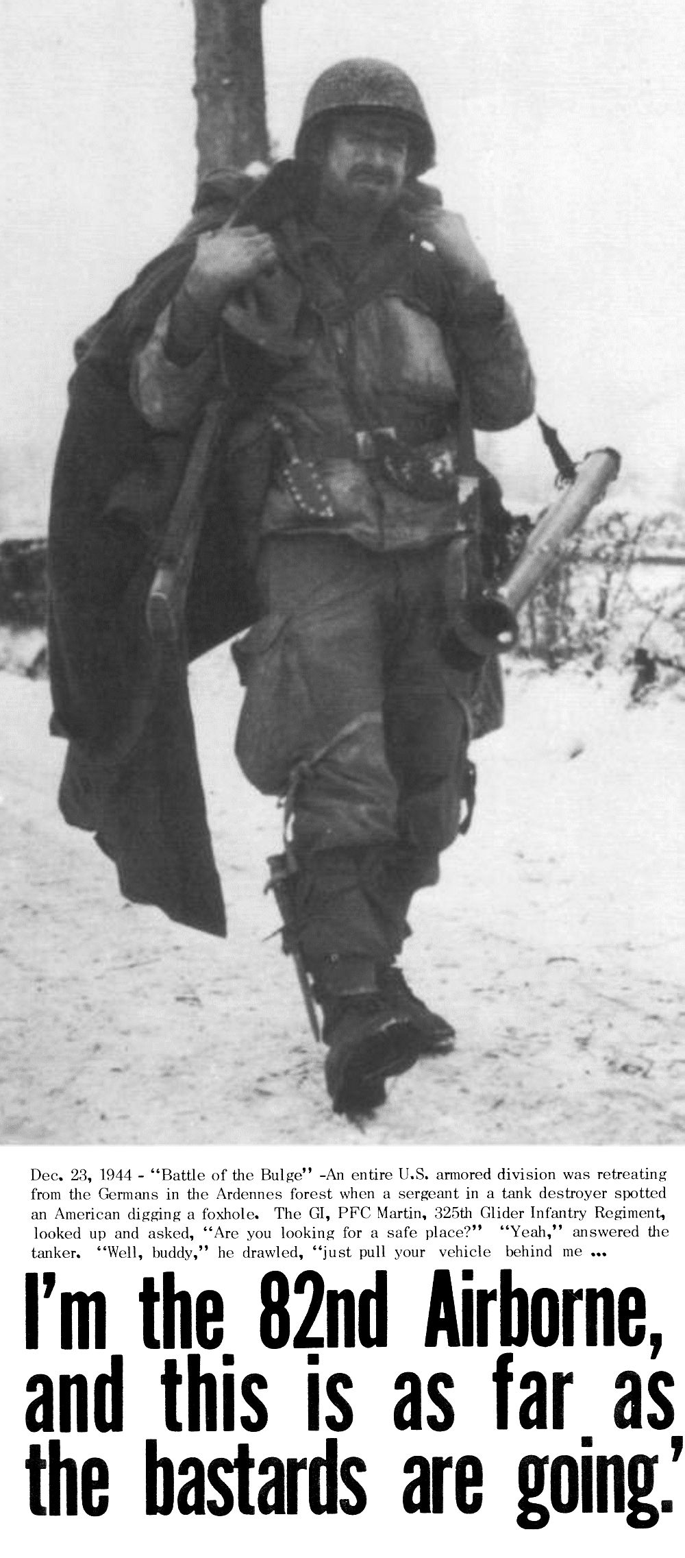 American paratrooper and Soviet tanker
