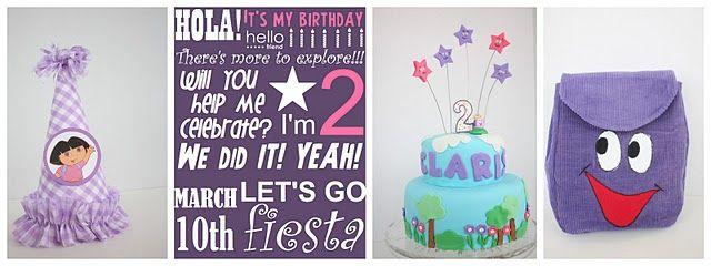 Dora Birthday.  Super cute ideas.