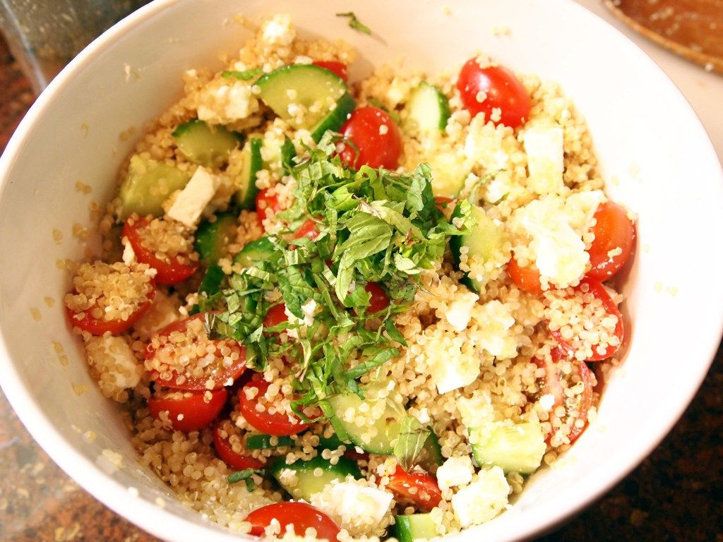 Greek Quinoa Salad. And the photos with this recipe are just too pretty!