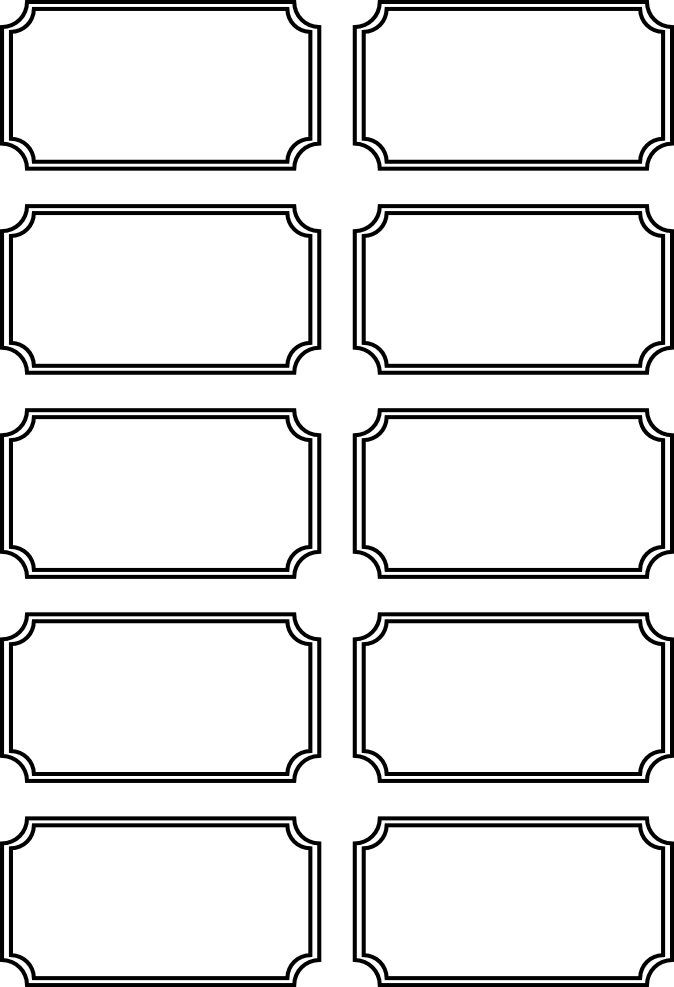 I was messing around with a Free Serif Program Under the shapes - printable ticket template free