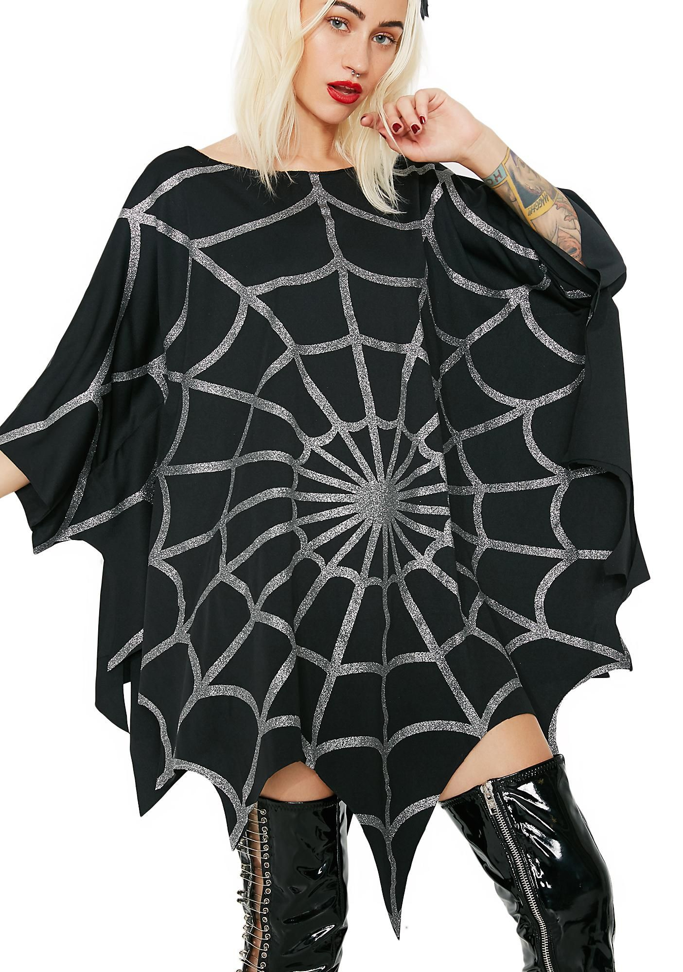 Stuck On You Web Poncho Halloween Costumes Online Halloween Costume Accessories Women