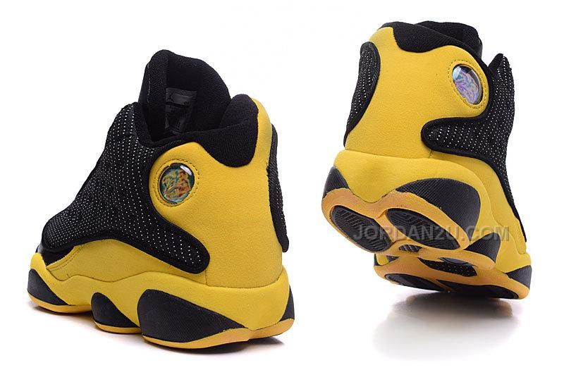 new style 064d5 d19df Air Jordan 13 Melo Carmelo Anthony Nuggets Away PE Black Yellow Gold,  Price 89.00