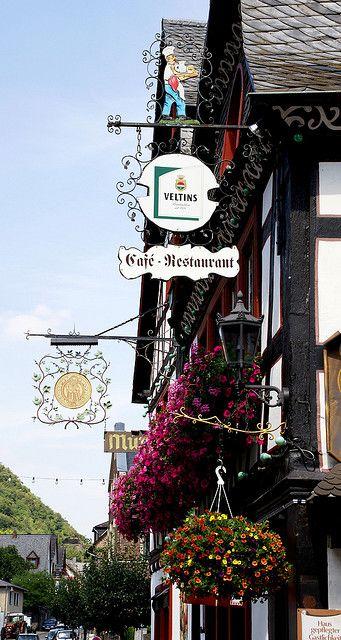 Shop signs ~ Bacharach, Rhineland-Palatinate, Germany