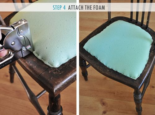 How To Upholster A Chair Attached Seat Pad Method Diy Chair Cushions Reupholster Chair Dining Dining Room Chairs Upholstered