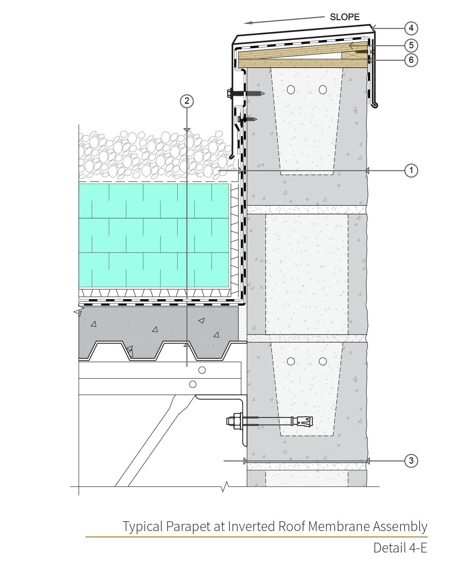 Assembly 4 Detail 4e Masonry Concrete Masonry Unit Wall Design