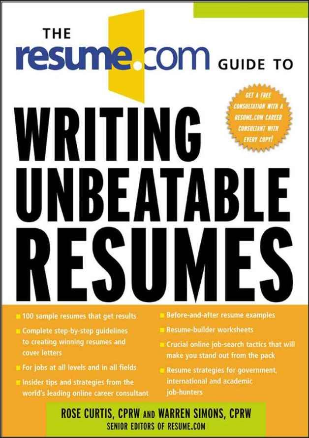 A great book on resumes Career Planning \ Jobs, Personal Finance - career consultant sample resume
