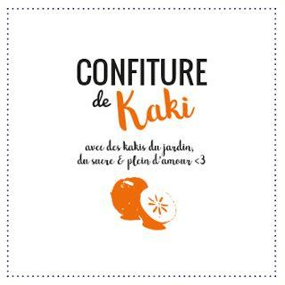 Souvent étiquette Graphique et Design pour pot à confiture de kaki  QD72