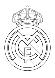 Resultado de imagen para logotipo de real madrid para colorear e