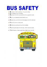 picture relating to Printable School Bus Rules named Faculty Bus Security Pointers Printable Bus things Faculty