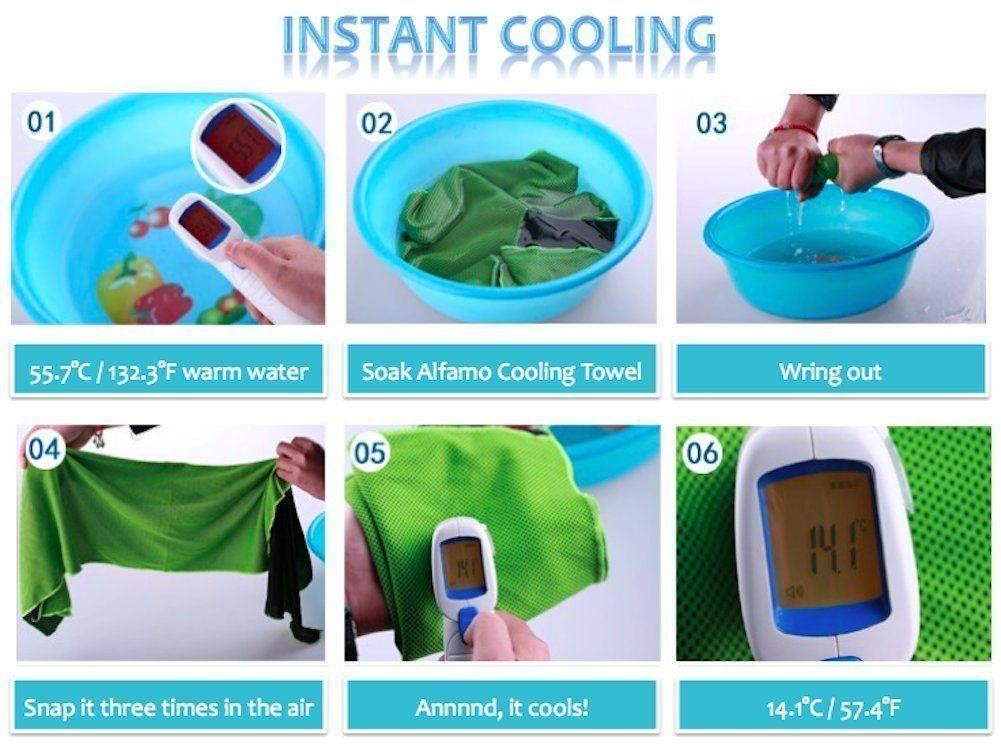 Felicia Sharkey 2 Pack Cooling Towel 35x 12 Ice Towel Microfiber