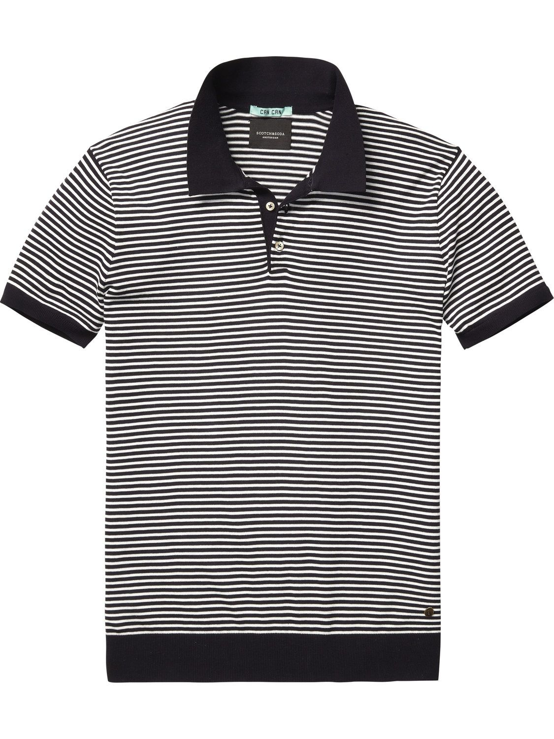 Knitted Polo Shirt |Pullover|Men Clothing at Scotch & Soda | Men's ...