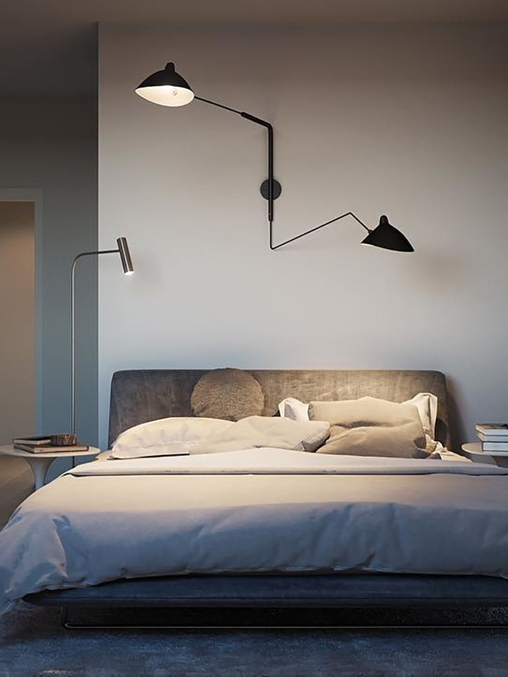 Serge Mouille Wall Lamp In 2020 Serge Mouille Wall Sconce Mouille Wall Lamp Wall Lamps Bedroom