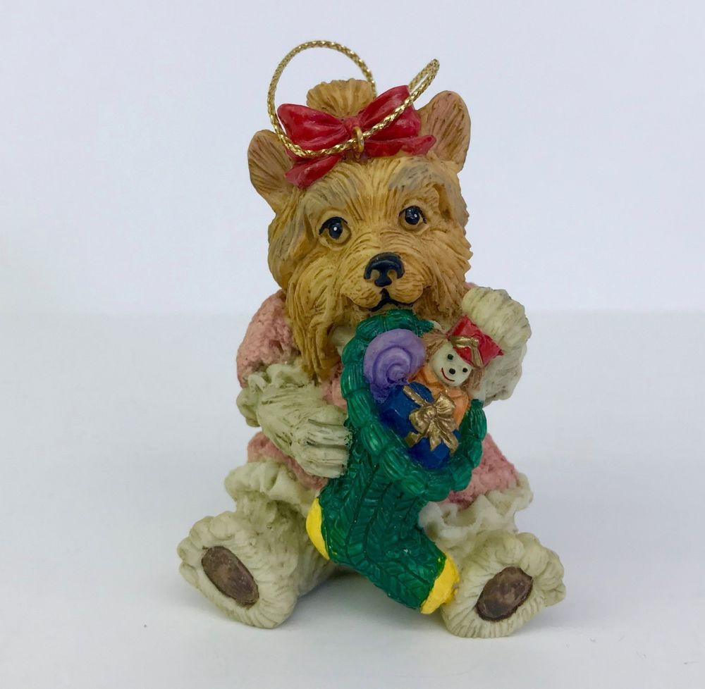 Yorkshire Terrier Dog Christmas Ornament Resin Holiday Tree Decoration 3in Unbranded Dog Christmas Ornaments Holiday Tree Decorations Christmas Dog