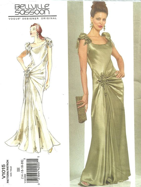 Vogue 1015 / Designer Original Sewing Pattern / By Bellville Sassoon ...