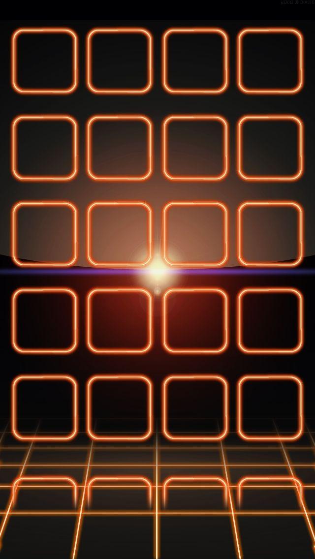 Orange Neon Frames Neon Wallpaper Wallpaper Iphone Neon Orange