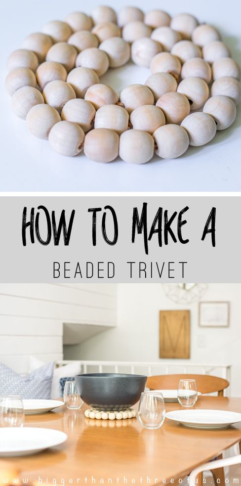 how to make wooden bead trivets