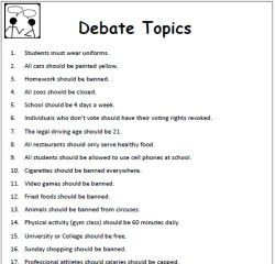 Debate Worksheets How To Debate  Debate