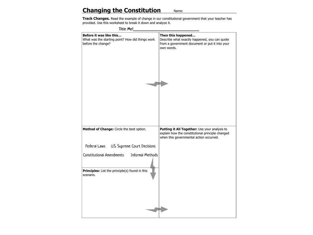 Constitutional Principles Worksheet Answers - worksheet