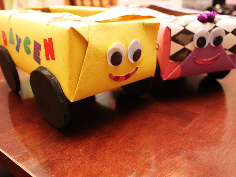 Crafts Cars: Friday Craft Day : Kleenex Box Cars