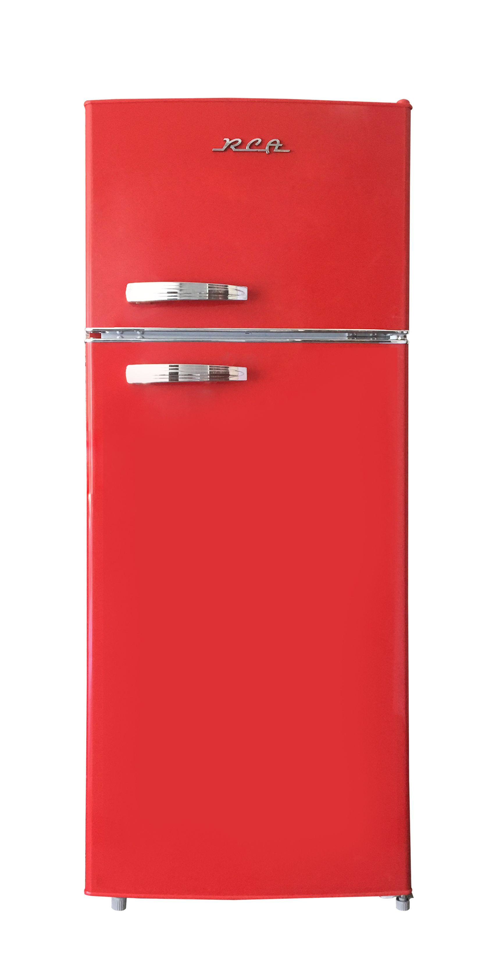 Rca 10 Cu Ft Top Freezer Apartment Size Retro Refrigerator Red Rfr1055 Walmart Com In 2020 Retro Refrigerator Refrigerator Bottle Store