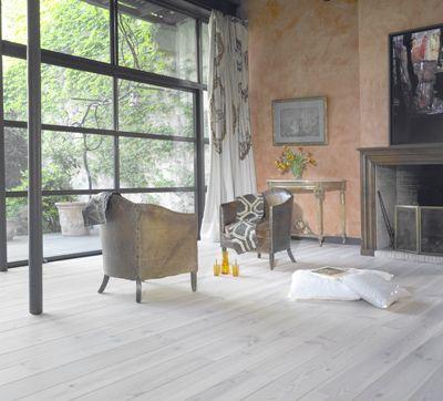 Grenen voorgeolied wit vloeren pinterest - Betegeld wit parket effect ...
