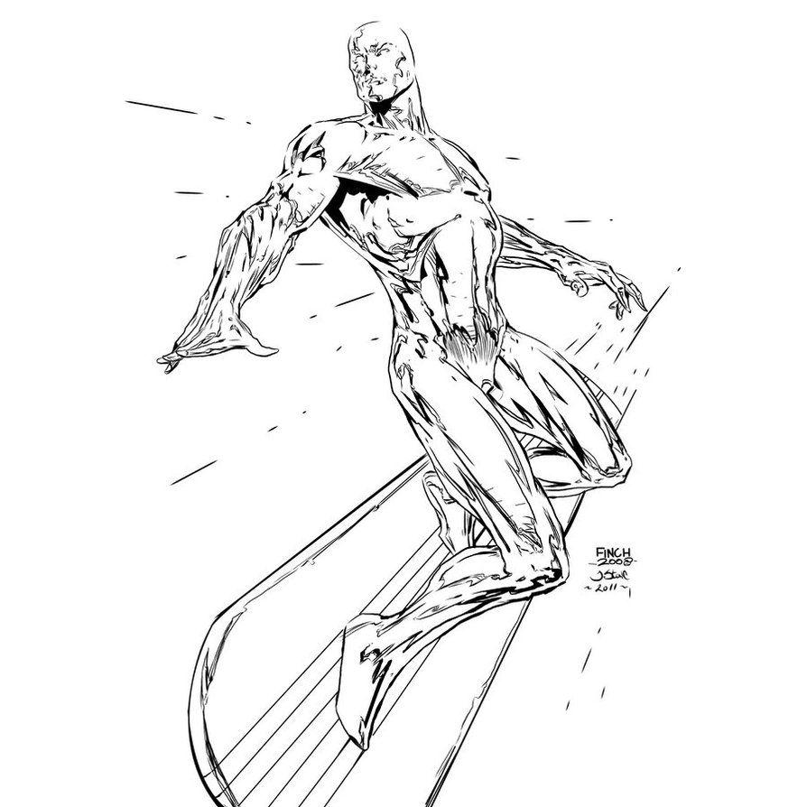 Browse Art Deviantart Silver Surfer Surfer X Men Coloring Pages