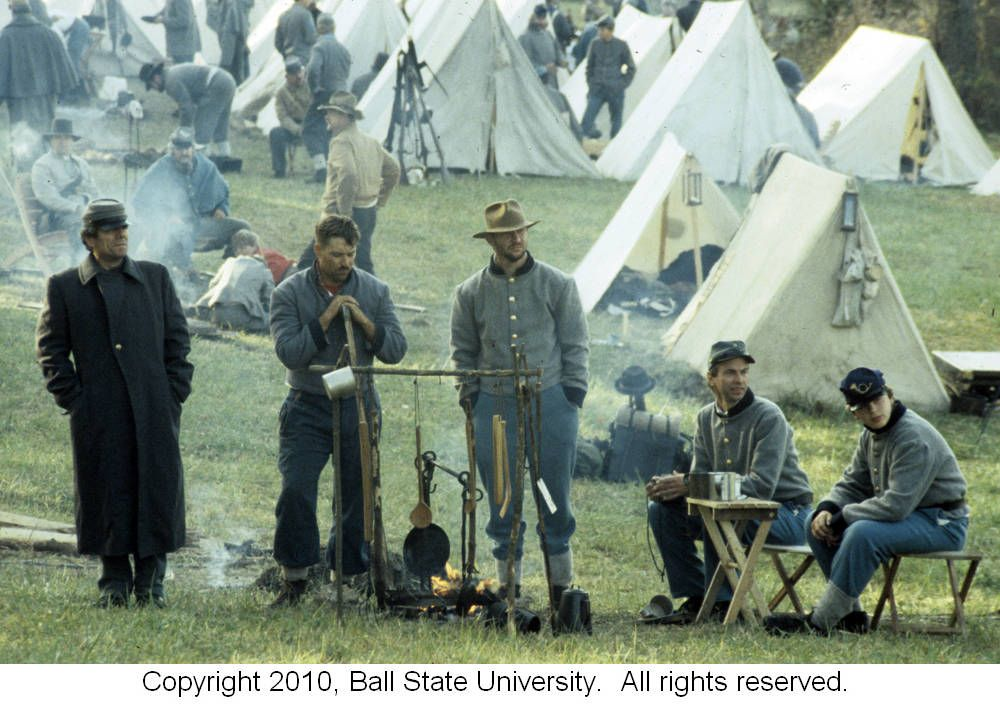 """""""Battle of Perryville reenactment, 1992"""" - To learn more, visit the Ronald V. Morris American and Indiana History Images in the Ball State University Digital Media Repository.  Copyright 2010 Ball State University"""