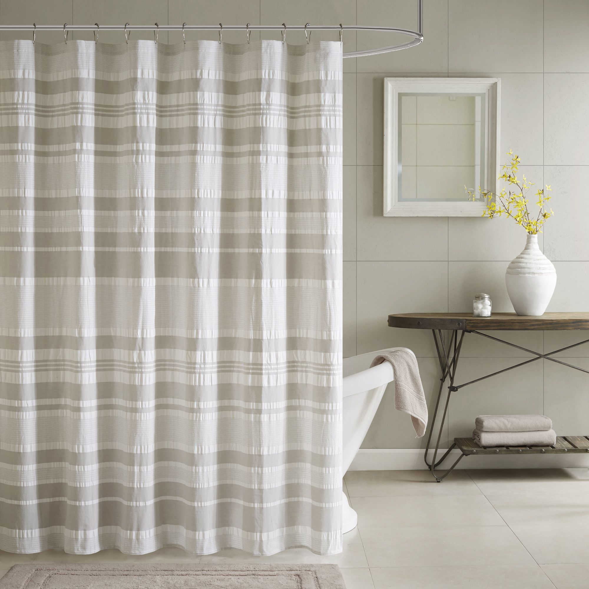 Inkivy lakeside cotton shower curtain design pinterest