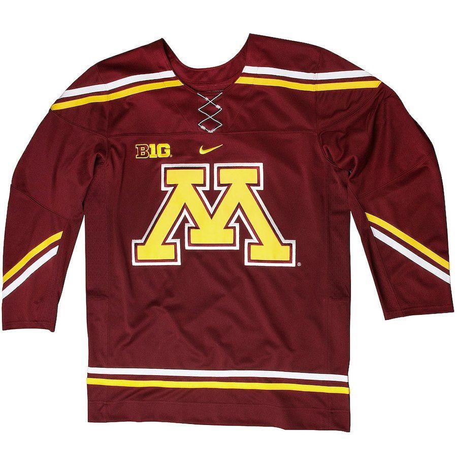 ce069dbf5 Minnesota Golden Gophers Twill Hockey Jersey - Maroon