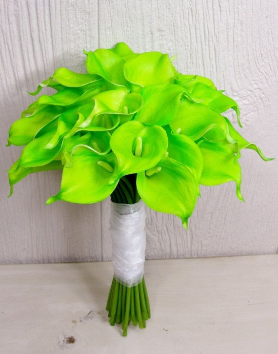 Items Similar To Wildly Vibrant Lime Green Calla Lily Bridal Wedding Bouquet On Etsy Calla Lily Bridal Calla Lily Bouquet Wedding Bridal Bouquets
