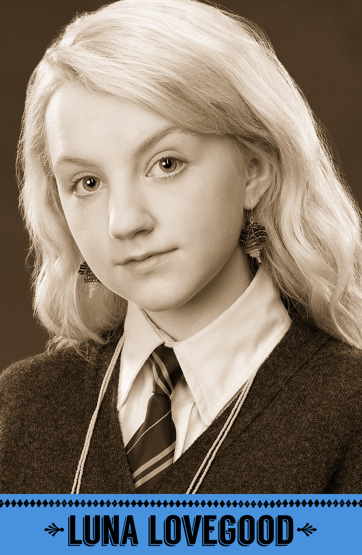 Luna Lovegood, Ravenclaw. #HogwartsStudents #Hogwarts #HarryPotter #Ravenclaw #EvannaLynch